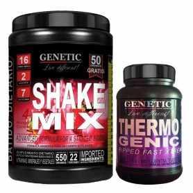 Shake Mix de Genetic x550 grs + Thermogenic x60