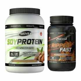 Soy Protein 1 kg Pulver + Ripped Fast 120 tabs