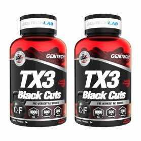 (2 unidades) Quemador de Grasas Tx3 Black Cuts x60 de Gentech