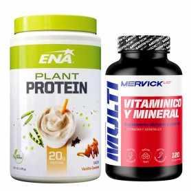 Plant Protein de Ena Sport 375 grs + Vitaminas y Minerales de Mervick