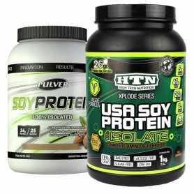 Proteína Soy Protein Pulver 1 kg + Soy Protein 1 kg de HTN