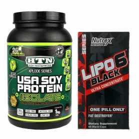 Lipo 6 Black Nutrex Ultra Concentrado + Proteína USA Soy Protein HTN 1 kg