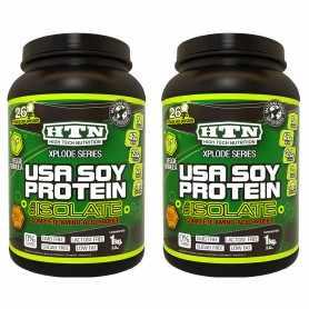 (2 unidades) Soy Protein 1 kg de HTN Proteína de Soja Con L-Carnitina