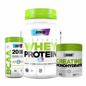Platinum o Premium Whey Protein 2 lbs Star + Bcaa 2000 + Creatina 300 grs