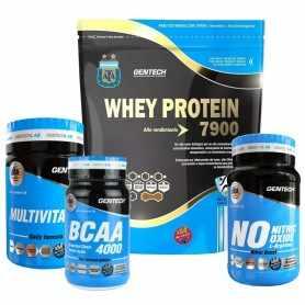 Combo Whey Afa 1 kg + Oxido Nítrico x90 + Bcaa 4000 + Vitamínico Gentech