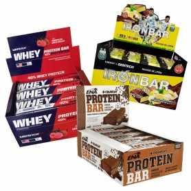 Barras de proteína: Mervick, Gentech y Ena Sport.