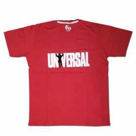 Remera con logo UNIVERSAL talle XL L M (Roja)