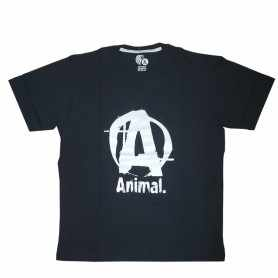 Remera con logo ANIMAL talle XL L M (Negra)
