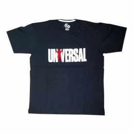 Remera con logo UNIVERSAL talle XL L M (Negra)