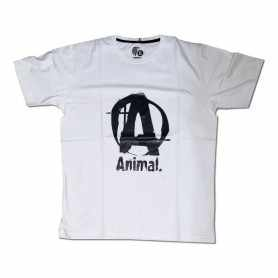 Remera con logo ANIMAL talle XL L M (Blanca)