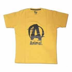Remera con logo ANIMAL talle XL L M (Amarilla)