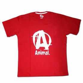 Remera con logo ANIMAL talle XL L M (Roja)