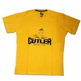 Remera con logo JAY CUTLER talle XL L M (Amarilla)