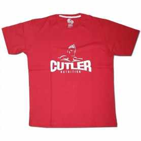Remera con logo JAY CUTLER talle XL L M (Roja)