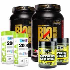 2 Óxido Nítrico HTN + 2 Proteína Bio Prot  + 2 BCAA 2000 Star Nutrition