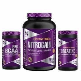 Nitrogain 1.5 kg + Bcaa Pro Xtrenght + Creatina 250 grs