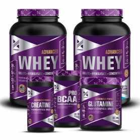 2 Whey Advanced Xtrenght  1kg c/u + Glutamina 300 + Creatina 250 + Bcaa Pro