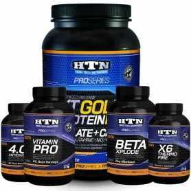 Combo HTN Pro Series: Proteína + Quemador + Pre Entreno + Vitaminas + Antioxidante
