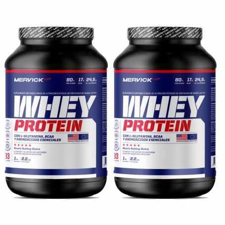 ( 2 Unidades) Whey Protein 1 kg Mervick Suero de Leche Puro