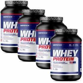 ( 4 Unidades) Whey Protein 1 kg Mervick Suero de Leche Puro