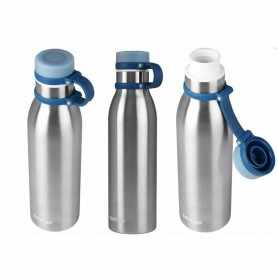 Botella Térmica Contigo Gris Metal modelo MATTEHORN de 591 ml