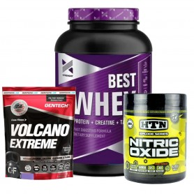 Best Protein 2 Lbs Xtrenght + Bcaa Pack Htn + Volcano Gentech