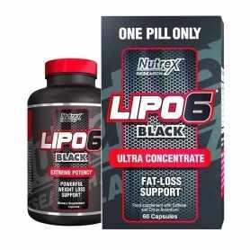 Quemador de Grasas Lipo 6 Black de Nutrex x60 Ultra Concentrado