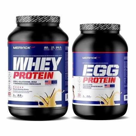 Whey Protein 1 kg + Egg Protein 1 kg de Mervick