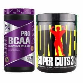 Super Cuts 3 de Universal + Bcaa Pro de Xtrenght