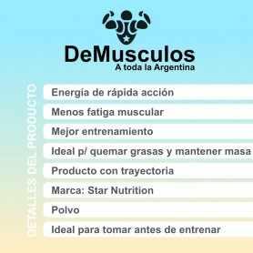 L-Arginina GH Star Nutrition por 150 gramos