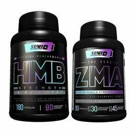 HMB de 180 cápsulas + ZMA de 90 Cápsulas - Star Nutrition